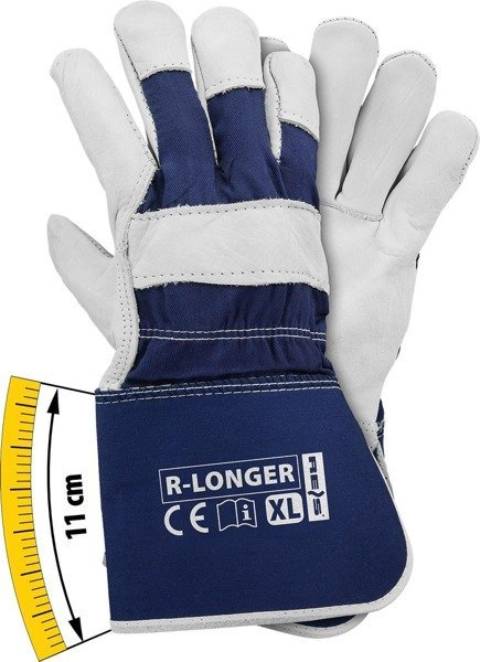 6789833a90d6e9 Rękawice robocze wzmacniane skórą R-LONGER [41481] - Sklep eprotect.pl